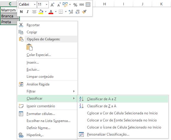 Passo 1 - Como fazer uma lista suspensa no Excel