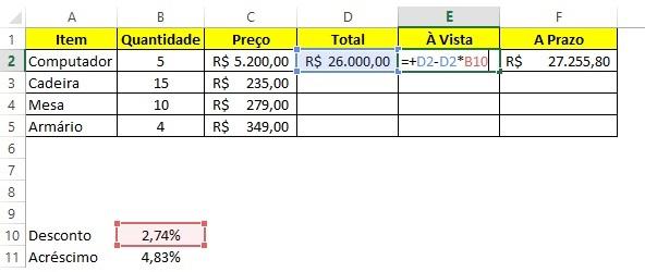 Calcular porcentagem no Excel - Passo 3