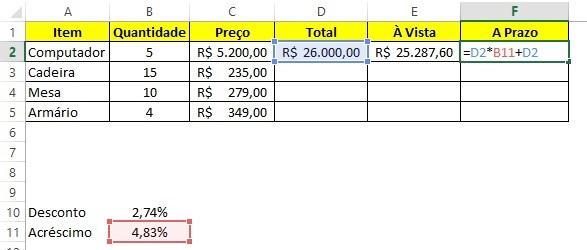 Calcular porcentagem no Excel - Passo 4